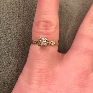 Jewelry - 14k Art Deco Solitaire VVS Diamond Engagement Ring
